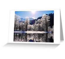 Reflections of Winter, Austria Greeting Card