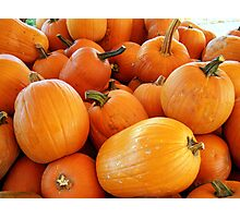 Pumpkins Galore Photographic Print