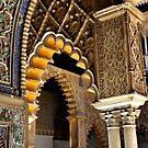 SEVILLA - The ALCAZAR - Interior arches and arabian laces by Daniela Cifarelli