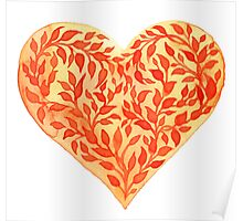 - Watercolor heart - Poster