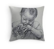 Chinese child Throw Pillow