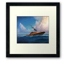 Whale Sub Framed Print
