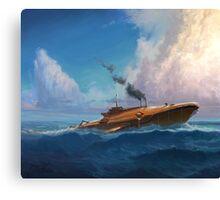 Whale Sub Canvas Print