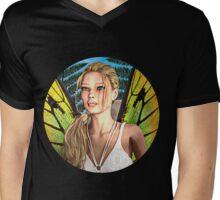 Fairy Butterfly Mens V-Neck T-Shirt