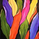 Color in my garden, Acrylic painting by Esperanza Gallego