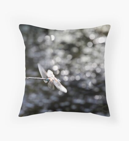Across the Sea of Stars (Paddle-Tailed Darner) Throw Pillow