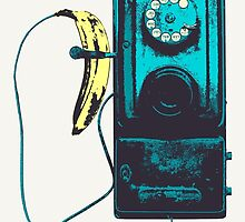 Vintage Banana Public Telephone by Braun Bach
