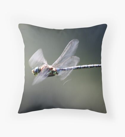 Paddle-Tailed Darner In-Flight Profile Throw Pillow