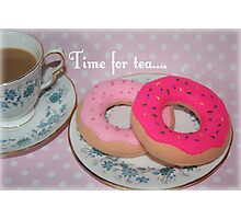 Tea and doughnuts Photographic Print