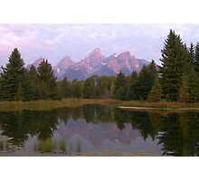 Grand Teton at Schwabacher's Landing Photographic Print