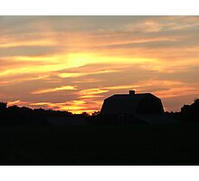 Sunset in the Country Photographic Print