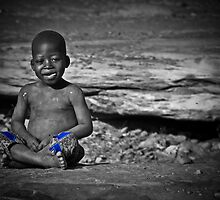 Little African Bouddha by Saka