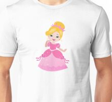 Funny Princess in a pink dress Unisex T-Shirt