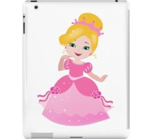 Funny Princess in a pink dress iPad Case/Skin