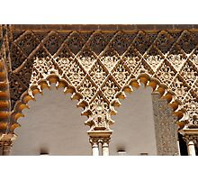 Laces at Seville - THE REAL ALCAZAR arches Photographic Print