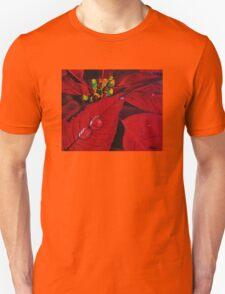 Big Red Poinsettia Unisex T-Shirt