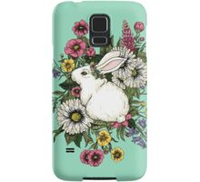 Rabbit in Flowers Samsung Galaxy Case/Skin