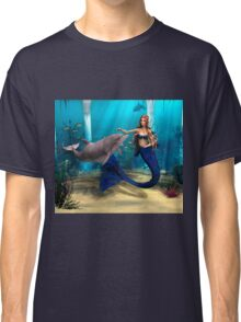 Mermaid and Dolphin Classic T-Shirt