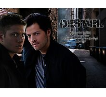 Dean Winchester&Castiel Destiel Photographic Print