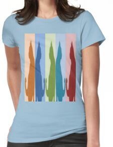 Reflected Images Of A Line Of Cats Womens Fitted T-Shirt