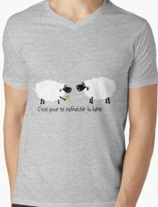 Le chewing gum des moutons Mens V-Neck T-Shirt