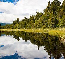 Lake Matheson Reflections by ianwoolcock