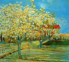 'Orchard' by Vincent Van Gogh (Reproduction) by Roz Abellera Art Gallery