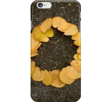 Circle of Yellow Leaves iPhone Case/Skin