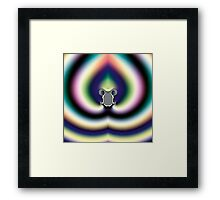 Psychedelic Heart Framed Print