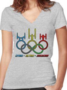 Citius - Altius - Audacior Women's Fitted V-Neck T-Shirt