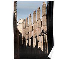 Chimney Silhouette (Cambridge) Poster