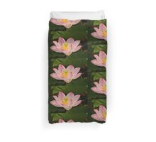 Pink lotus flower Duvet Cover