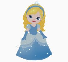 Cute Princess Cinderella in a blue dress Kids Clothes