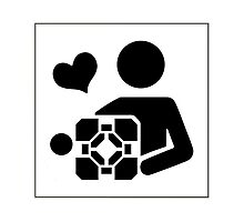 Portal - Love your companion cube by dardarius