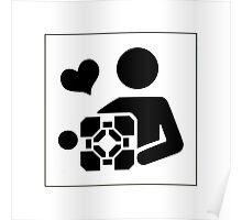 Portal - Love your companion cube Poster
