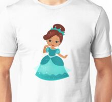 African American  Princess in a turquoise dress Unisex T-Shirt
