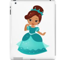 African American  Princess in a turquoise dress iPad Case/Skin