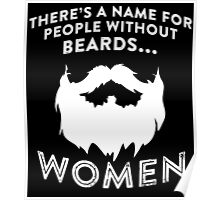 THERE'S MANE FOR PEOPLE WITHOUT BEARDS Poster
