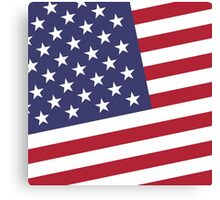 American Flag July 4th Party Canvas Print