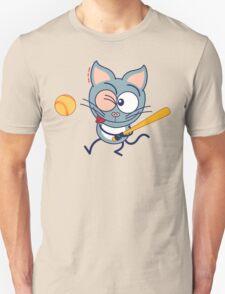 Cool cat playing baseball T-Shirt