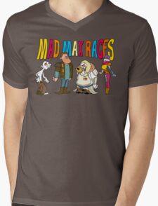 Mad Max Races Mens V-Neck T-Shirt