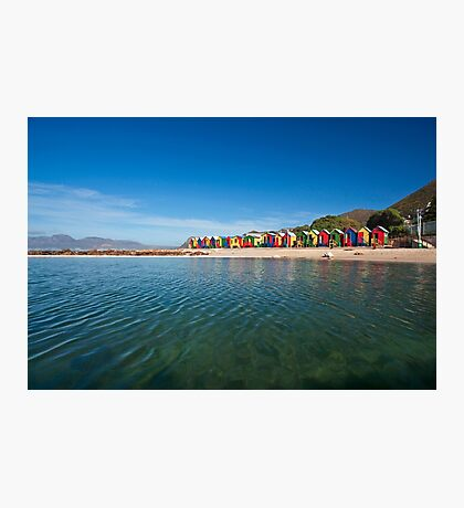 Colourful St James beach Photographic Print
