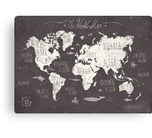 The World Map Canvas Print
