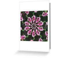 Rosas Moradas 2 Kaleidoscope 4 Greeting Card