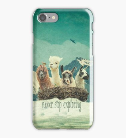 Never Stop Exploring The Snow iPhone Case/Skin