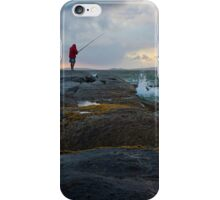 fishing before the storm iPhone Case/Skin