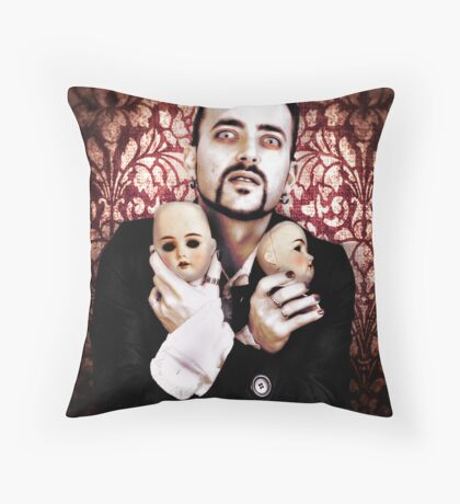 Clay Dolls Throw Pillow