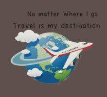 Travel is my destination One Piece - Short Sleeve