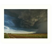 Outback Thunderstorm Moree Road Art Print