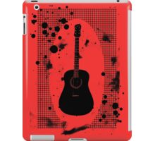 Ink-Spattered Black Acoustic Guitar iPad Case/Skin